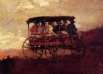 white mountain wagon by winslow homer painting