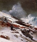 winter coast by winslow homer painting