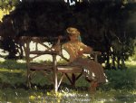 winslow homer woman on a bench painting