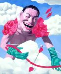 yue minjun cupid painting